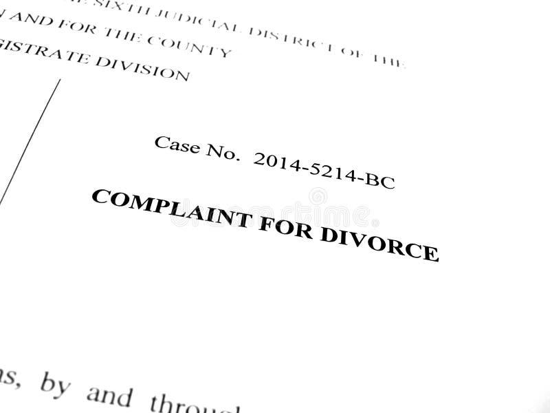 Beanstandung für Scheidung stockbilder