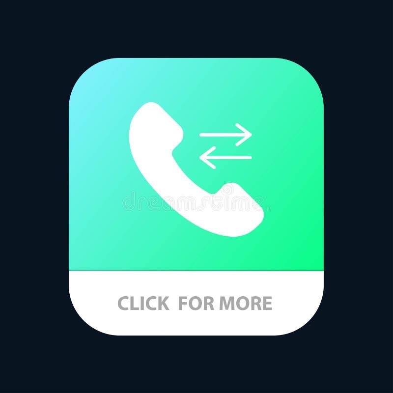 Beantworten Sie, rufen Sie an, treten Sie mit uns mobiler App-Knopf in Verbindung Android und IOS-Glyph-Version stock abbildung