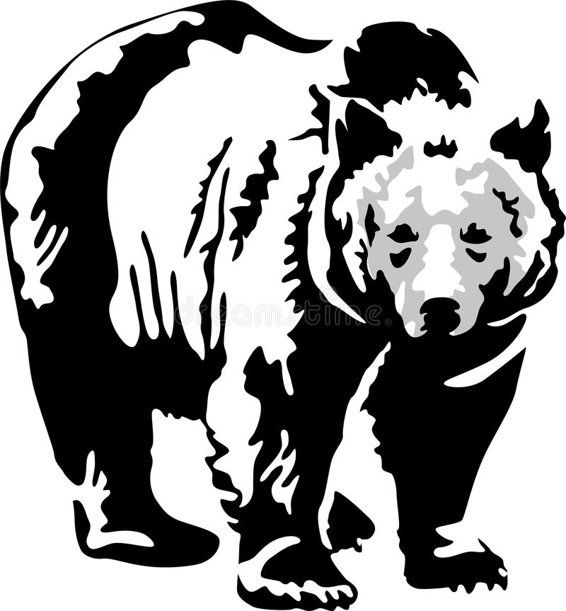 Download Bear stock vector. Image of length, strength, over, nature - 23826106