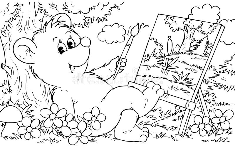 Bear Artist Stock Images