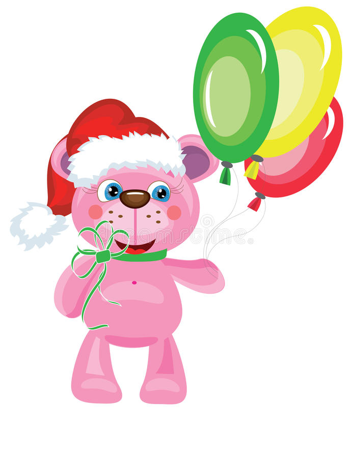 Download Bear with balloons stock vector. Image of single, plush - 21868358