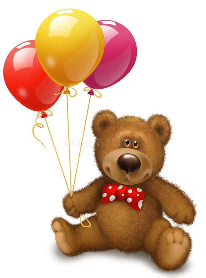 Download Bear with balls stock illustration. Image of ribbon, holiday - 36629122