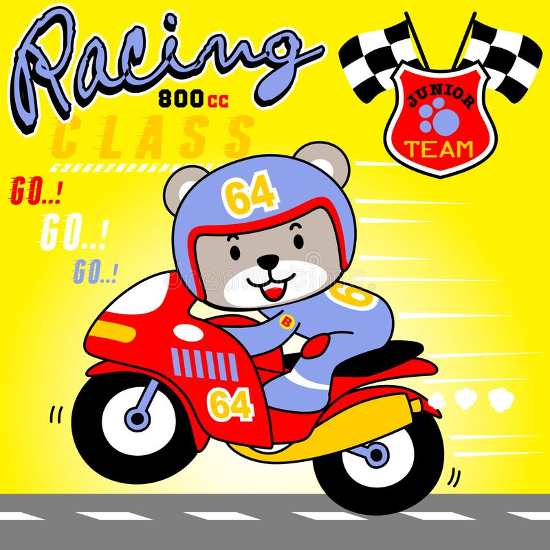 Motorcycle race championship royalty free illustration