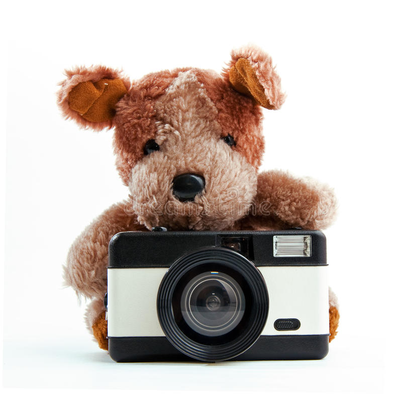 Download Bear with a camera stock illustration. Image of baby - 22162339