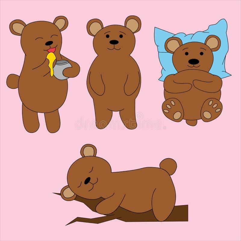 Bear in cartoon style. Cute illustration stock illustration