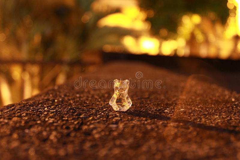 Bear. A crystal bear in the night royalty free stock image