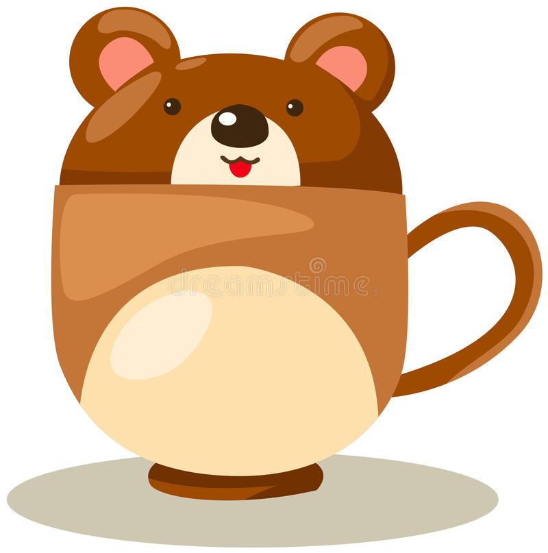 Bear Cup Royalty Free Stock Images
