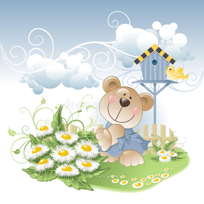Download Bear And Daisies Royalty Free Stock Photos - Image: 10603638
