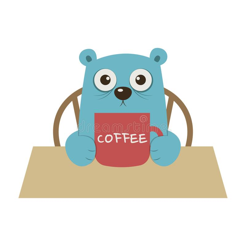 A Bear Drink Too Much Coffee Stock Vector Illustration Of Lunch Lovely 173936737