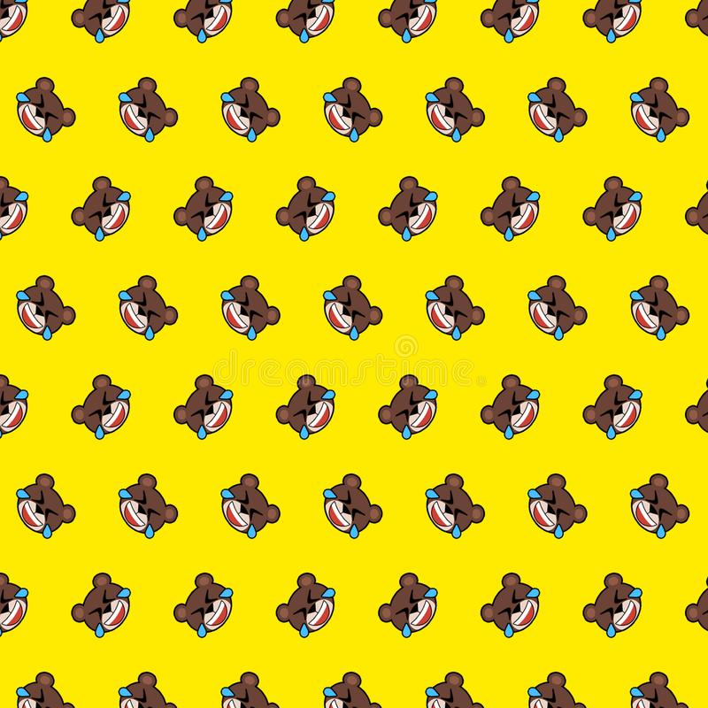 Bear - emoji pattern 04 stock illustration
