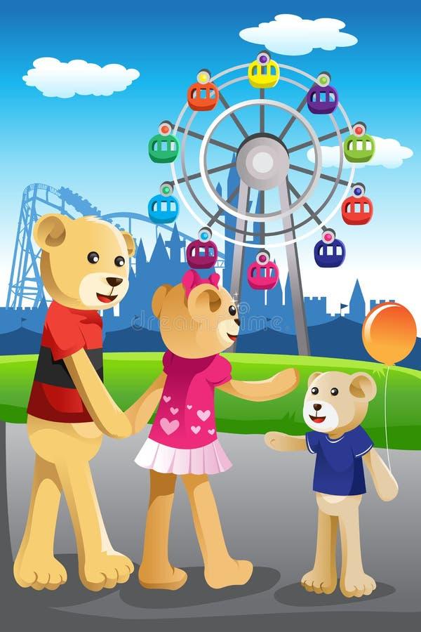 Download Bear Family Having Fun At Amusement Park Stock Vector - Illustration of cartoon, amusement: 32722397