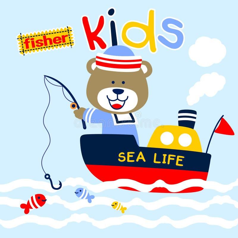 Bear the fisher stock illustration