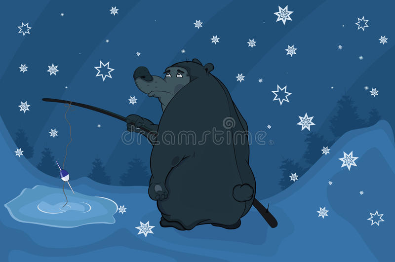 Download Bear fishing. Cartoon stock vector. Illustration of animals - 22300231