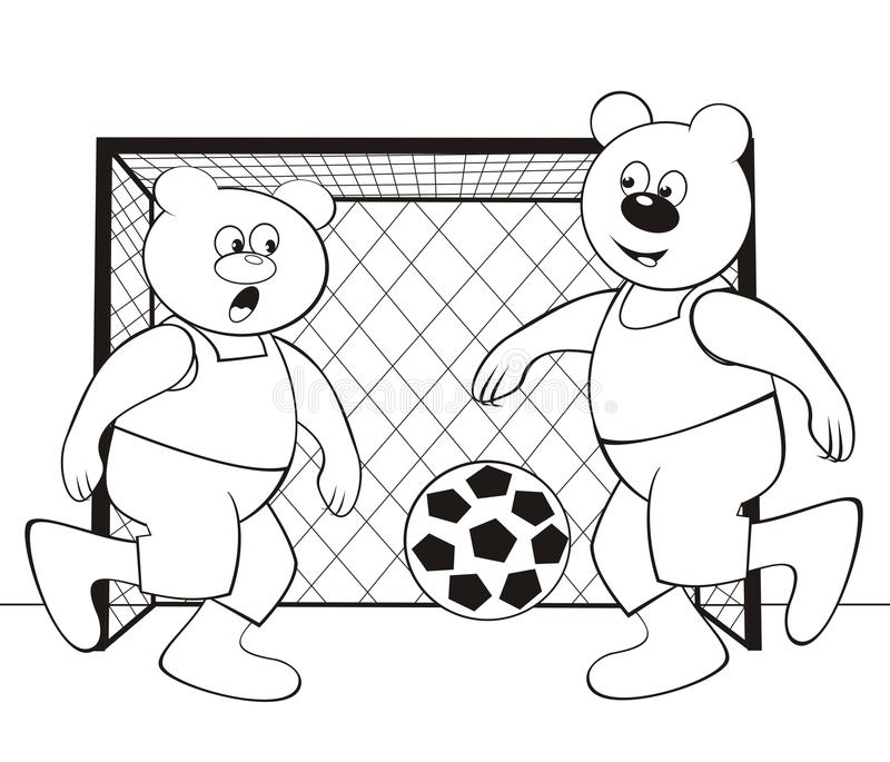 Download bear football coloring book stock illustration illustration of book postcard