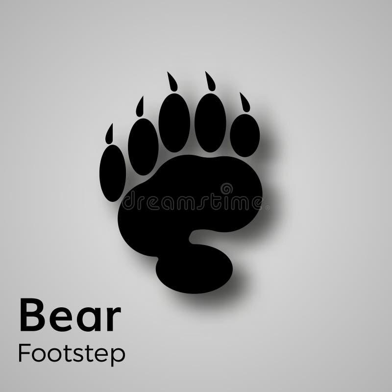 Bear footstep vector clip art foot print stock photo