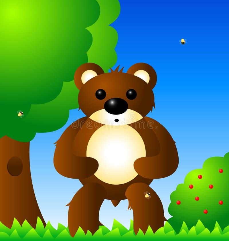 Download Bear in forest stock illustration. Image of cartoon, design - 23690701