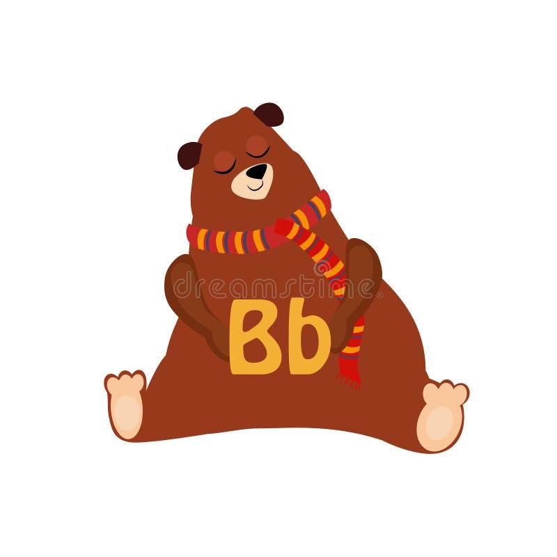 Bear. Funny Alphabet, Animal Vector Illustration. Bear. Funny Alphabet, Colourful Animal Vector Illustration vector illustration