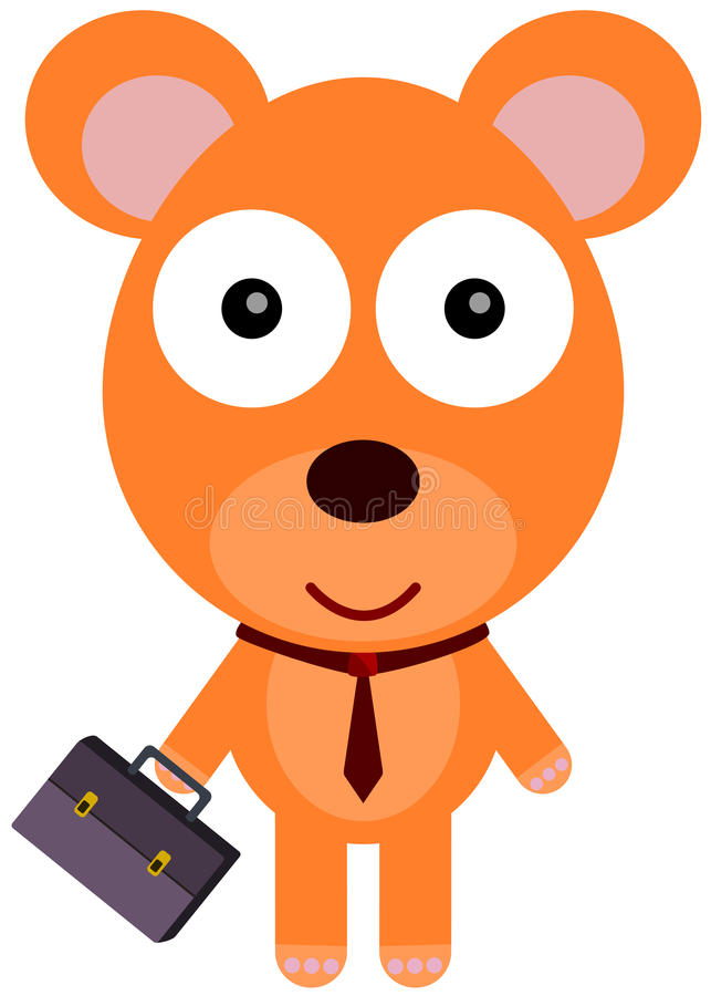 Free Bear Goes To Office Stock Photography - 32227402