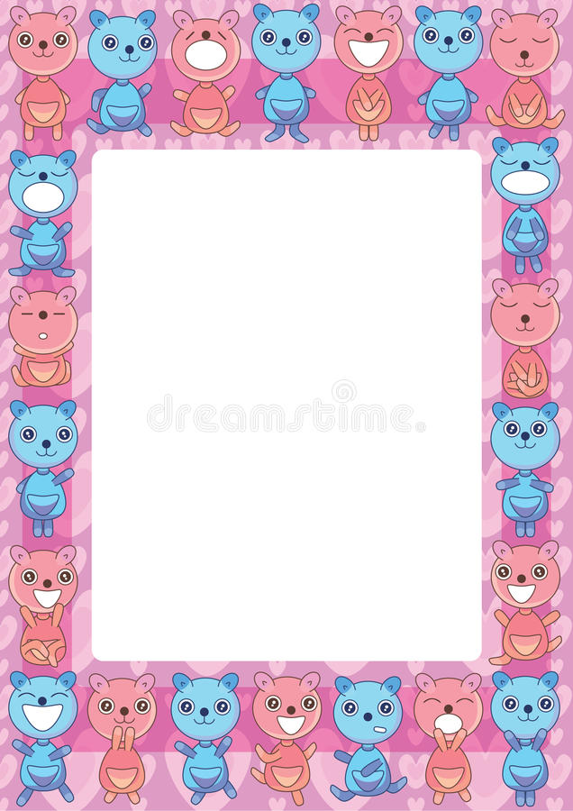 Download Bear Groups Frame_eps stock vector. Image of clothing - 26543251