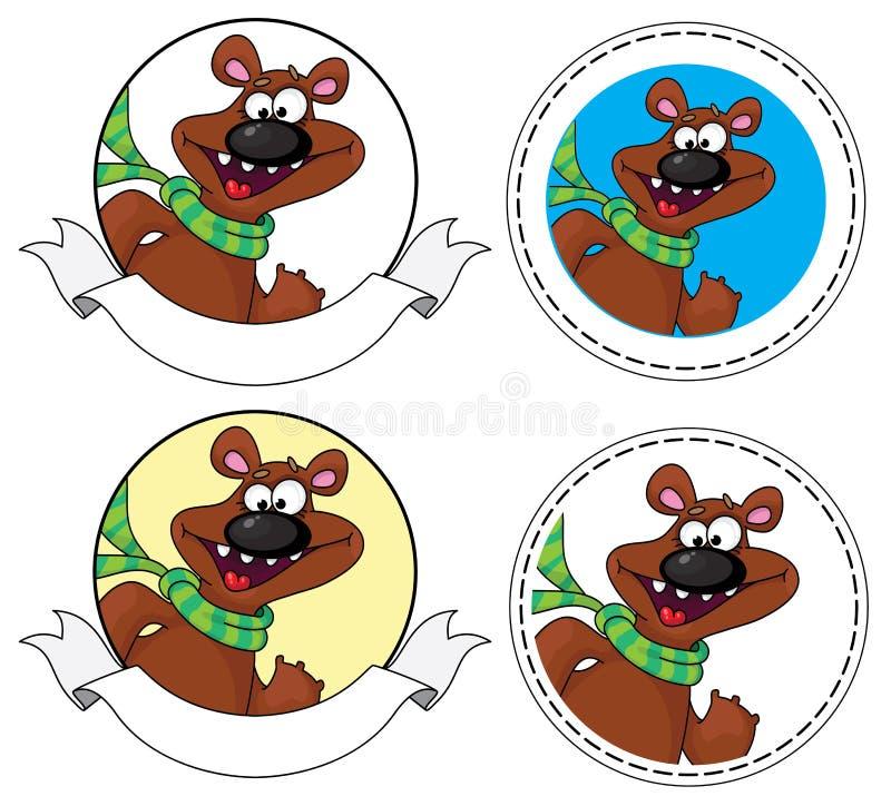 Download Bear head banner stock vector. Illustration of happy - 23477450