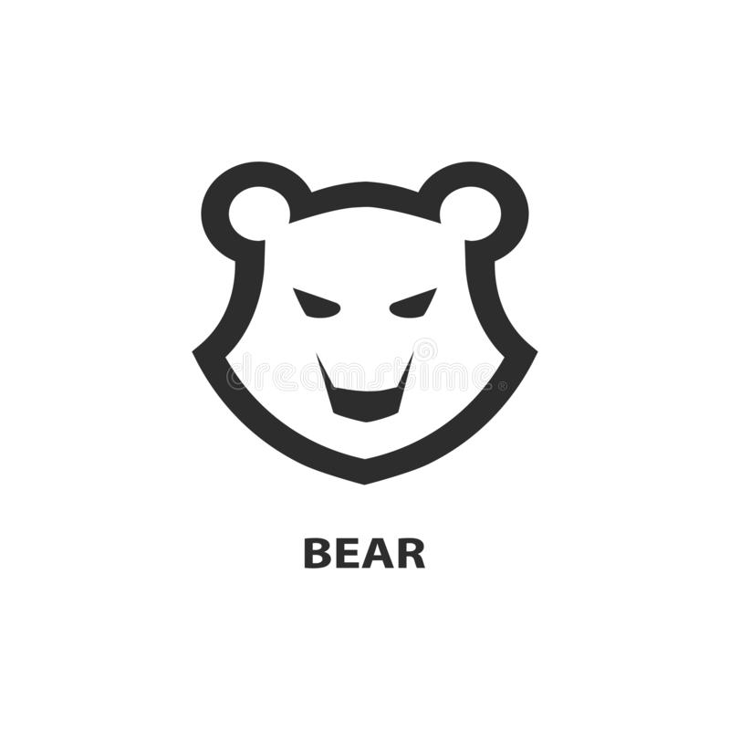 Bear head icon. Logo for your project. royalty free illustration