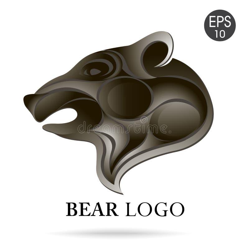 Bear head profile logo. Stock vector stock photos