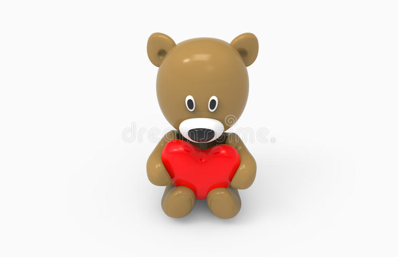Bear and heart stock image
