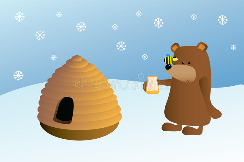 Download Bear hive bee and honey stock illustration. Illustration of graphic - 16934805