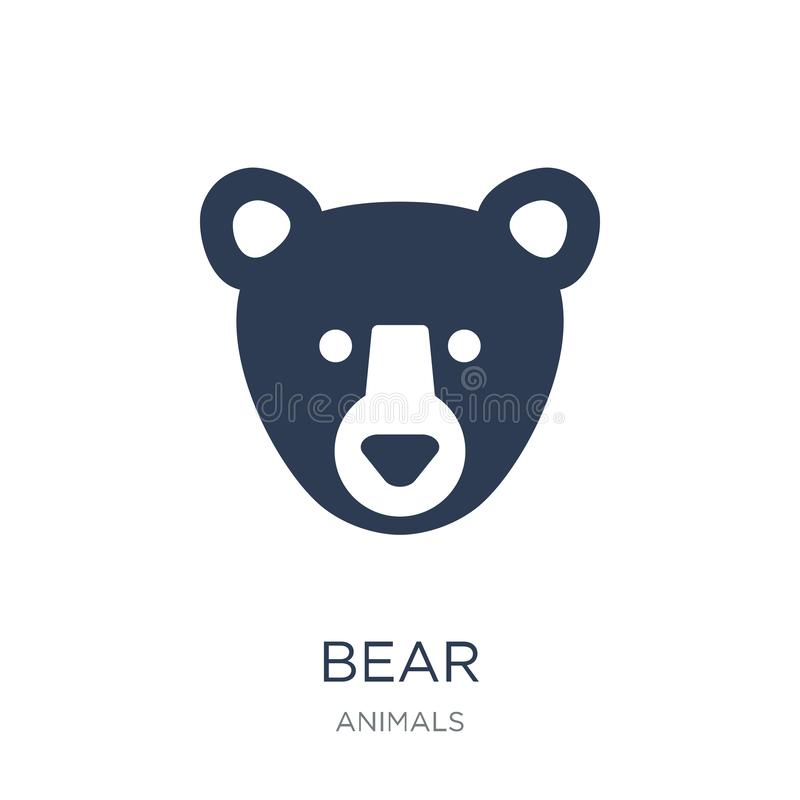 Bear icon. Trendy flat vector Bear icon on white background from royalty free illustration