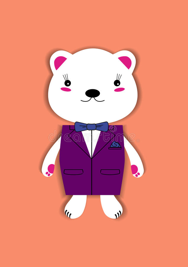 Bear with jacket royalty free stock image