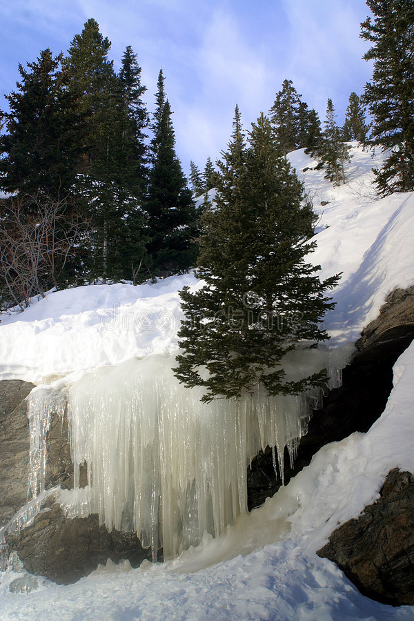 Bear Lake Ice Falls stock photos