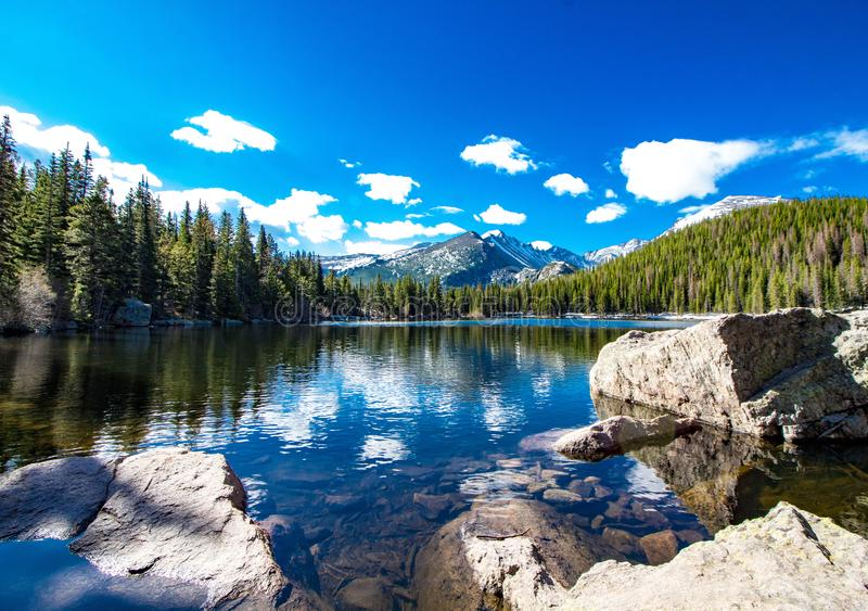 Bear Lake at Rocky Mountain National Park in Colorado royalty free stock images
