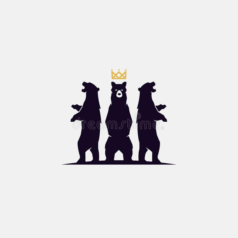 3 bear logo royalty free stock photo