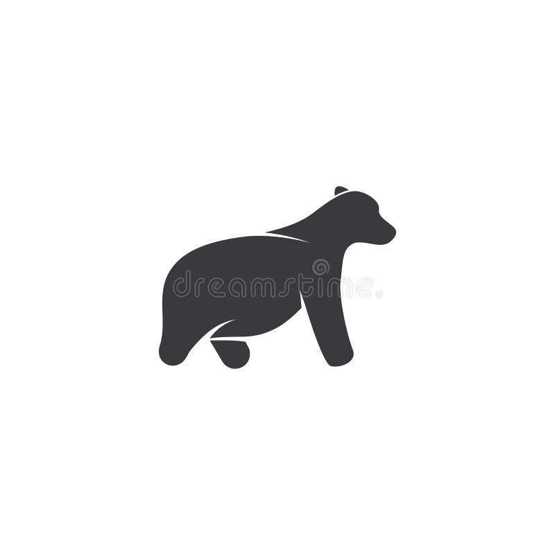 Bear logo ilustration stock illustration