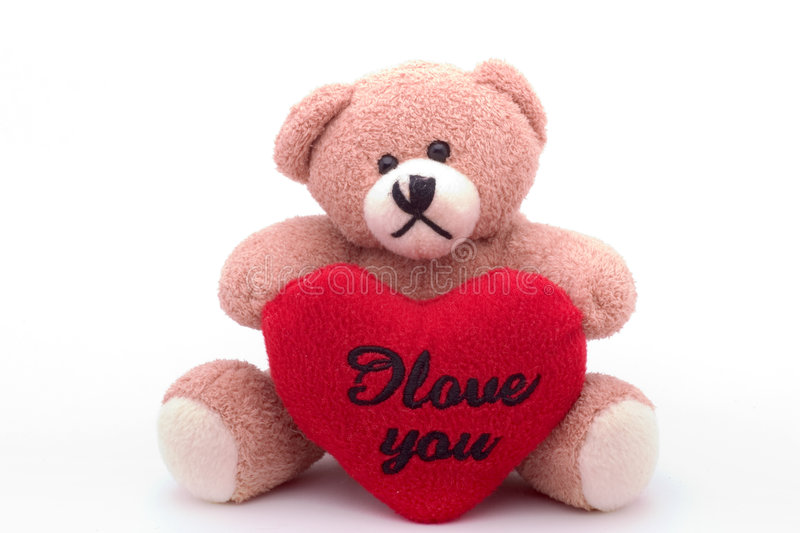 Bear loves you royalty free stock image