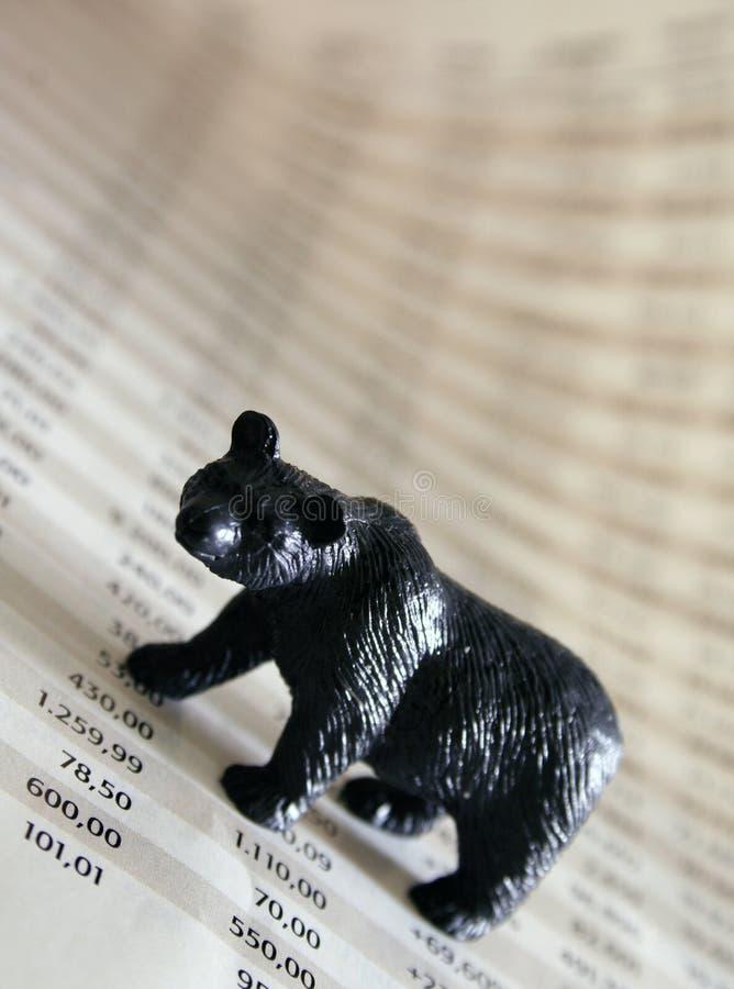 Bear market. Represents strongly falling stock market royalty free stock photos