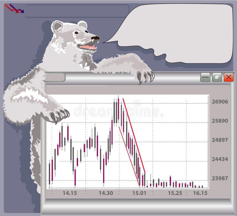 Bear market vector illustration