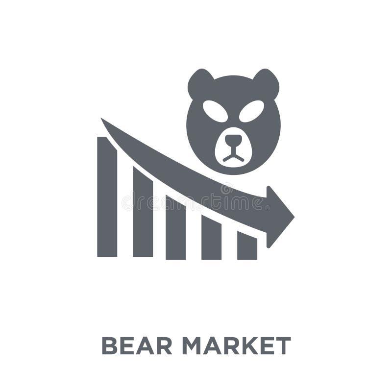 Bear market icon from Bear market collection. stock illustration