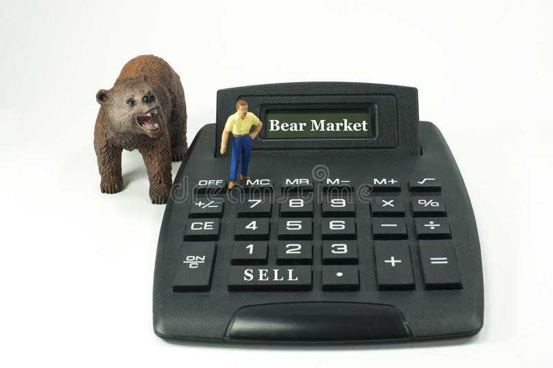 Bear Market! royalty free stock photography