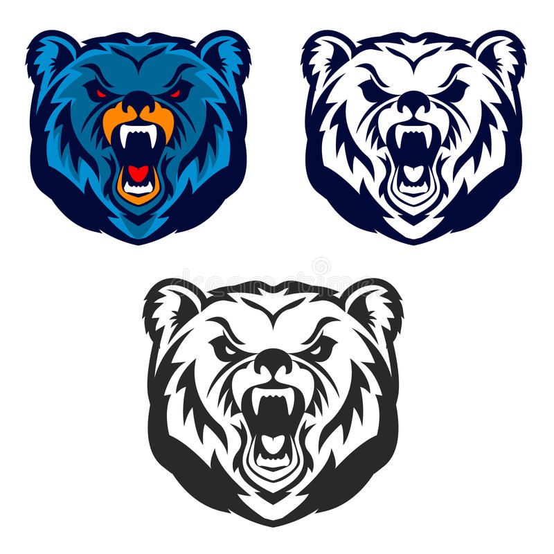 bear mascot emblem of the sport team or club stock vector rh dreamstime com grizzly bear mascot clipart Elementary Bear Mascot
