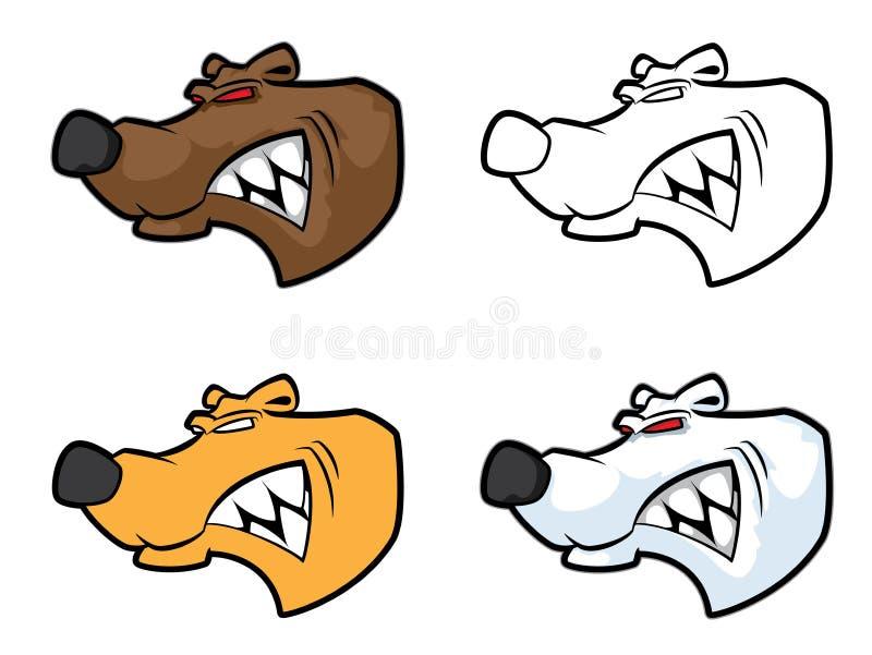 Download Bear mascot head stock vector. Image of school, element - 26053249
