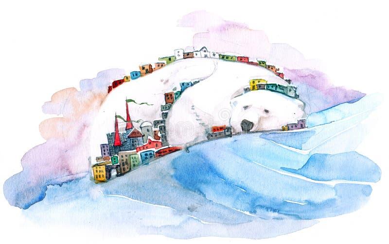 Bear mountain vector illustration