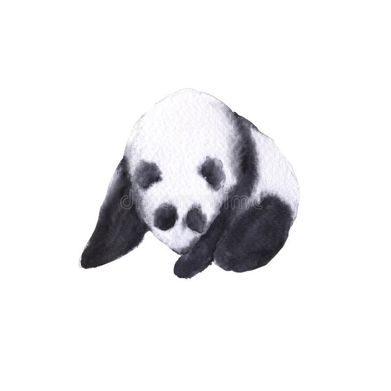 Bear the panda. Isolated on white background. royalty free illustration
