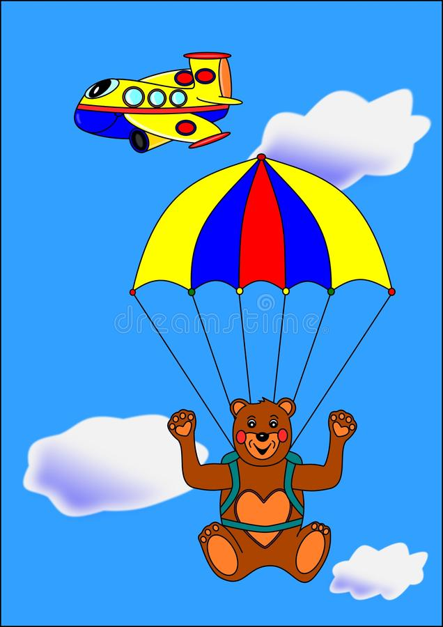 Download Bear Paratrooper Royalty Free Stock Photography - Image: 13485727