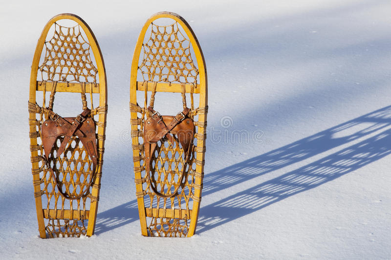Bear Paw snowshoes royalty free stock photography