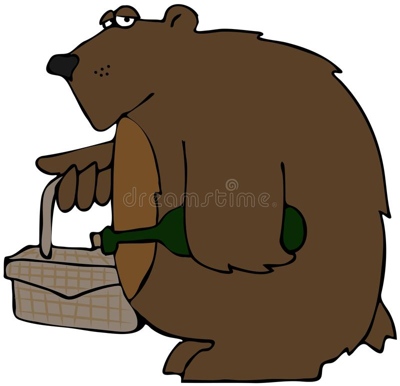 Download Bear On A Picnic stock illustration. Image of wild, picnic - 24683150