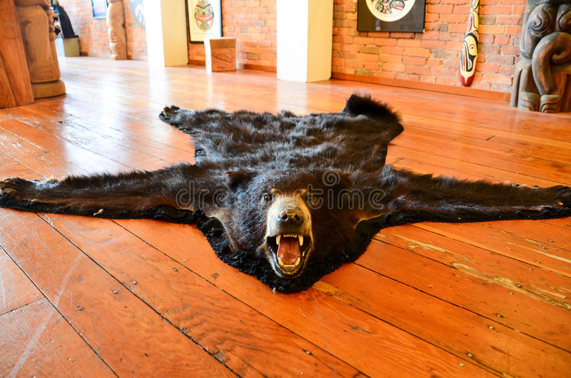 Bear rug stock images