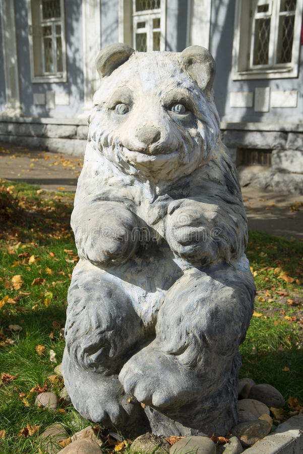 Bear Sculpture. Stock Photo - Sculpture of a bear in Stavropol royalty free stock image