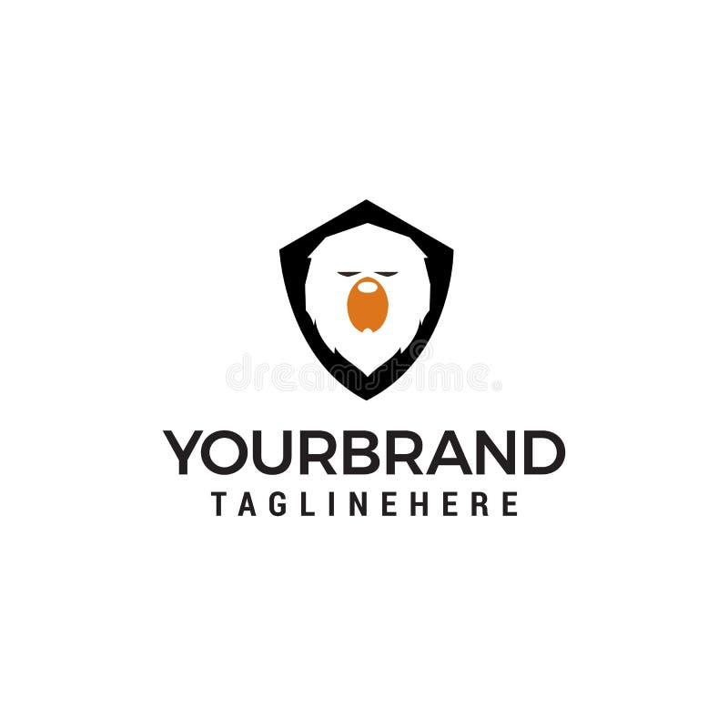 Bear shield logo design concept template stock illustration