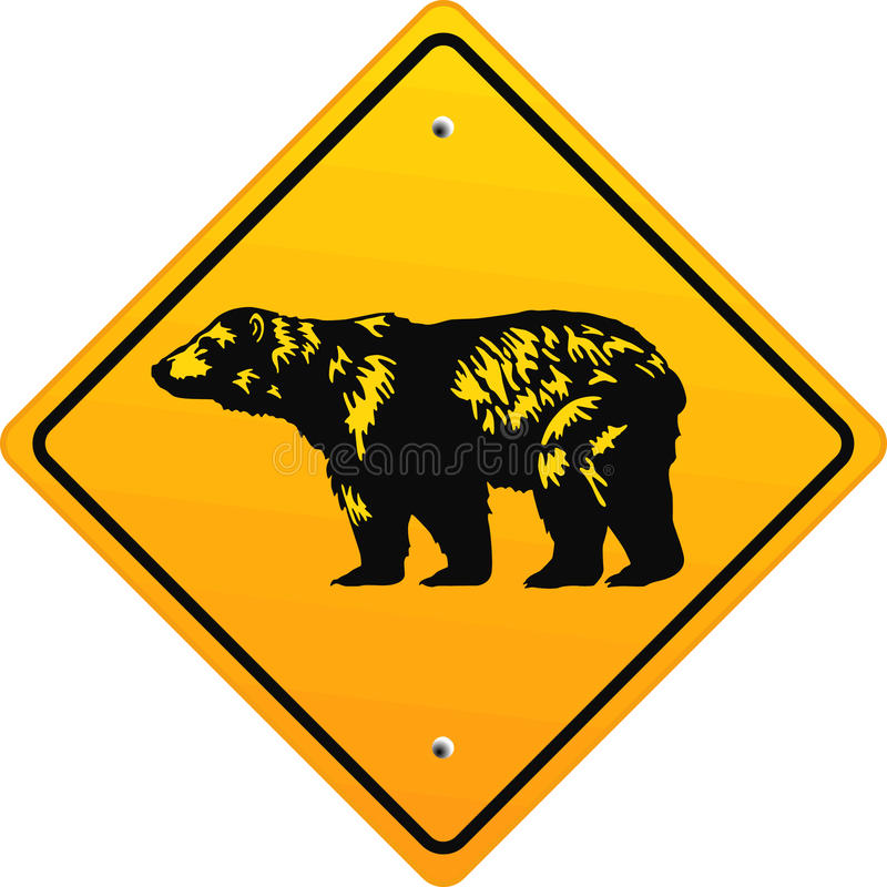 Bear sign vector illustration